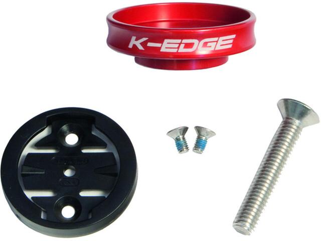 K-EDGE Garmin Gravity Cap Vorbau Halterung rot